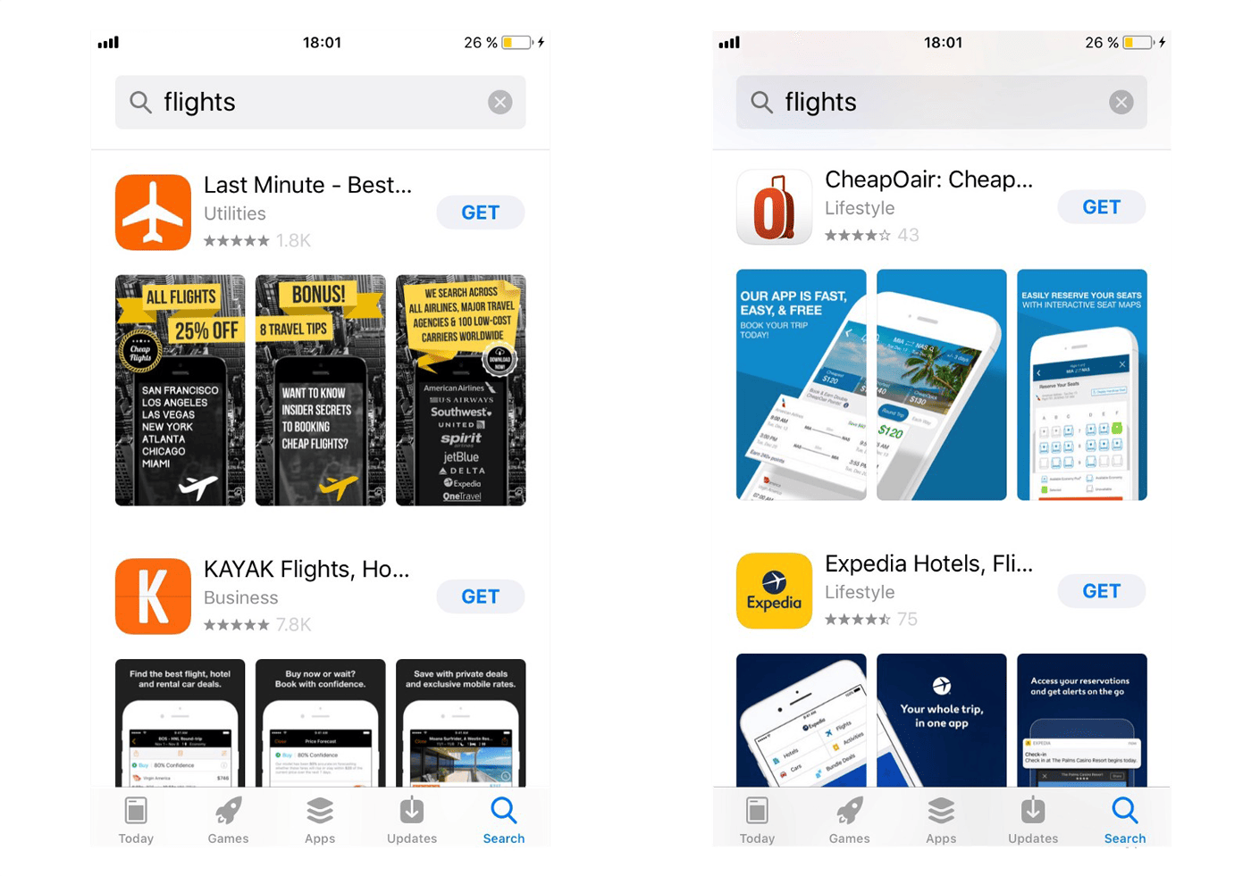 Bekitzur Blog: Search results in App Store in iOS 11 – three screenshots